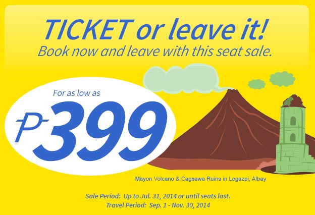 Wait for seat sales like these. This was a promo by Ceb Pac 2 years ago but you can still secure this low fare in their annual seat promos.